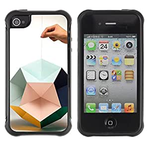 "Hypernova Defender Series TPU protection Cas Case Coque pour Apple iPhone 4 / iPhone 4S [Papel mano del arte Diseño Profundo""]"