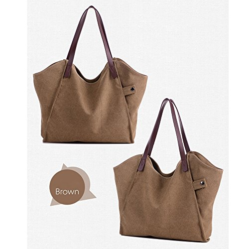la de toile tout Marron vagabond tote sac sac fourre sac sac main de Bandoulière shopping gérer à du à décontracté la à sacs Sac plage l'épaule haut page femmes RdqfUw5R