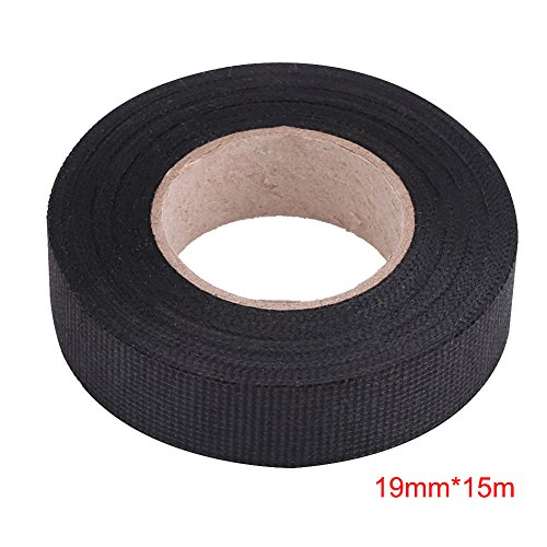 Estink Insulation Tape Black,High Temperature Resistant Automotive Wiring Harness Tape Car Electrical Self Adhesive Anti Squeak Tape for Mercedes BMW VW Audi (19mm15m)