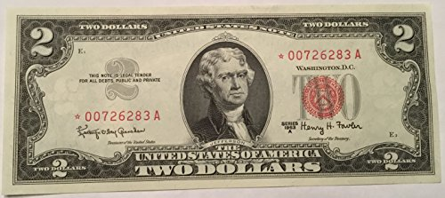 Rare Star 1963 A Series Red Seal $2 Two Dollar ⭐️ Star US Note