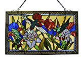 Fine Art Lighting Tiffany Window Panel, 28 by 17-Inch, 363 Glass Cuts