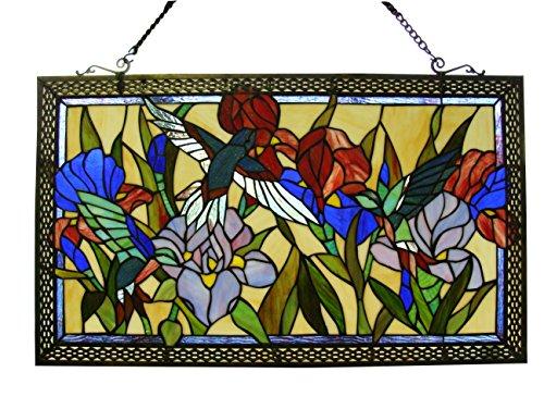 Fine Art Lighting ZP488 363 Glass Cuts Tiffany Window Panel, 28 x 17