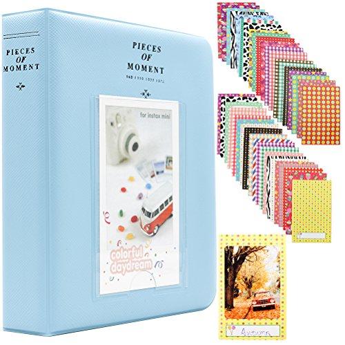 (Ablus 64 Pockets Mini Photo Album for Fujifilm Instax Mini 7s 8 8+ 9 25 26 50s 70 90 Instant Camera & Name Card (64 Pockets, Blue-3))