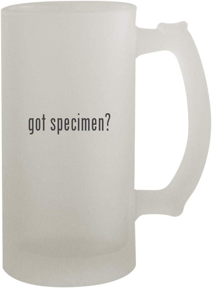 got specimen? - 16oz Frosted Beer Mug Stein, Frosted