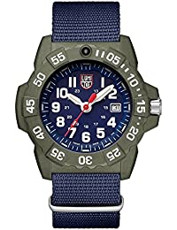 Mens SEA Swiss Quartz Stainless Steel and Nylon Casual Watch, Color Blue (