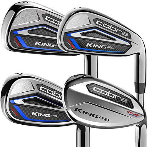 2018 Cobra King F8 One Length Iron Set (Set of 6 total clubs, Men's, Right Hand, Steel, Stiff Flex, 5-GW)