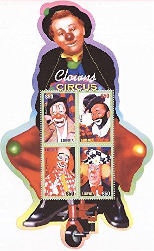 Liberia Sheet (Liberia - 2003 Clowns - 4 Stamp Sheet - LIB0325)