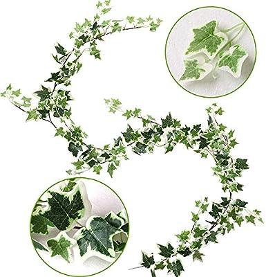 200m Artificial Silk Leaves Fake Vine Plant DIY Garland Wedding Party Decor