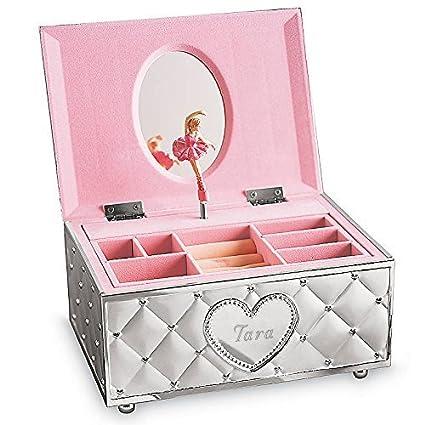 e5b73b56c Amazon.com: Lenox Childhood Memories Ballerina Jewelry Box (Personalized  4x7x5): Home & Kitchen