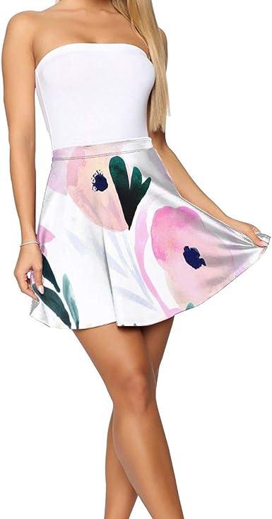 Falda Corta Mujer Verano 2019, Puesta de Sol Rosa Floral_901 ...