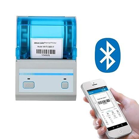 ZUKN Bluetooth Portátil Inalámbrico Térmica 58MM Impresora De ...