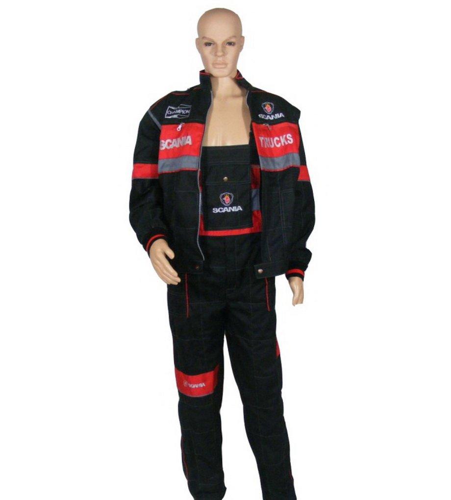 Ensemble de combinaison et veste avec logo brodé à l'avant et l'arrière - Vêtements de travail pour conducteurs de camion, hommes, mécaniciens mécaniciens Other