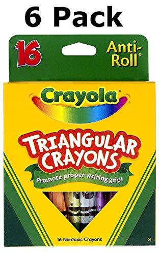 CRAYOLA LLC CRAYOLA TRIANGULAR CRAYONS 16 COUNT (Set of 6) from Crayola