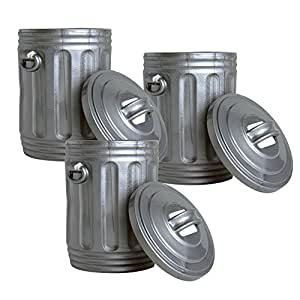 WWE Action Figure Accessory Set of 3 TRASH CANS w/Lids