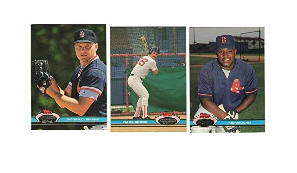 57d7416214 Amazon.com: 1991 Topps Stadium Club - BOSTON RED SOX Team Set: Collectibles  & Fine Art