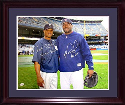David Ortiz Robinson Cano signed 16x20 photo framed ins Big Little Papi auto JSA COA