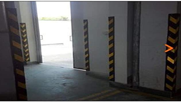 Feng-ramps Garage Bumper Strip Parking Lot Warehouse Rubber Corner Strip Car SUV Truck Reversing Reflective Strip Color : A, Size : 120CM