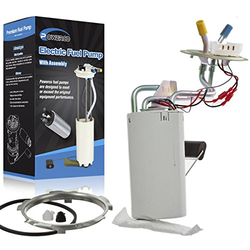 POWERCO Electric Fuel Pump Module Aeesmbly E2059MN with Sending Unit for 1990-91 Ford F-150 19 Gal. Driver Side Mount SP39B1H Ports, Center Tank