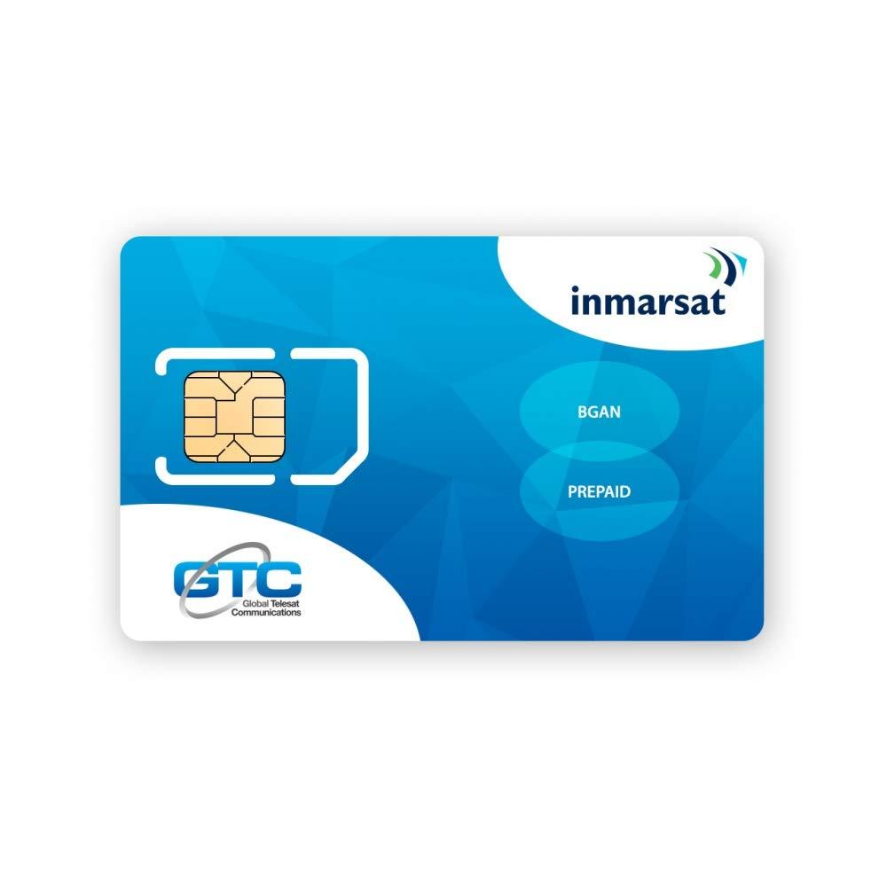 Inmarsat BGAN Prepaid SIM Card with 50 Units (5.5MB) by Inmarsat