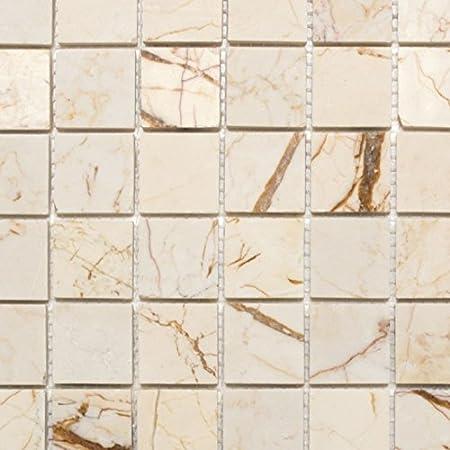 Mosaik Fliese Marmor Naturstein Schwarz Brickmosaik Bad 40 0210 F