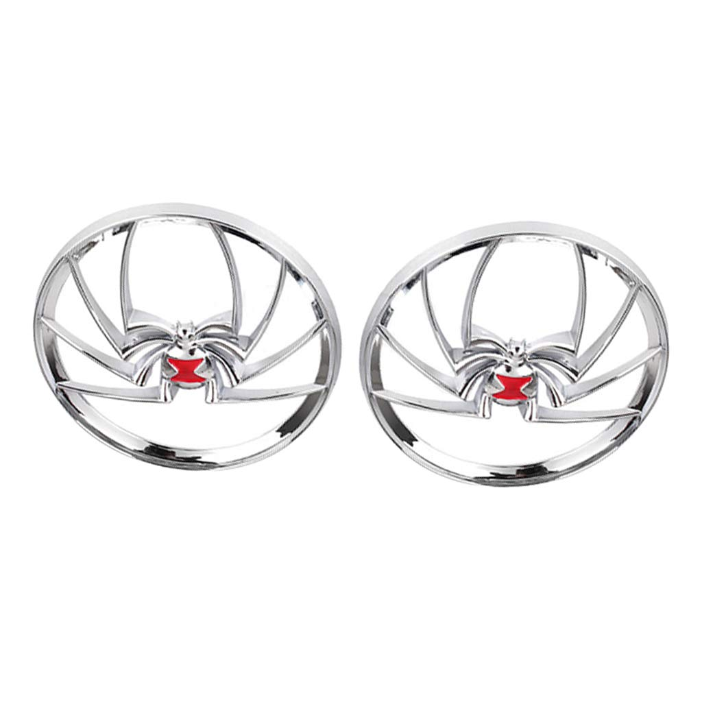 Baosity Widow Spider Speaker Grill Cover for Harley Touring Electra Street 1996-2013