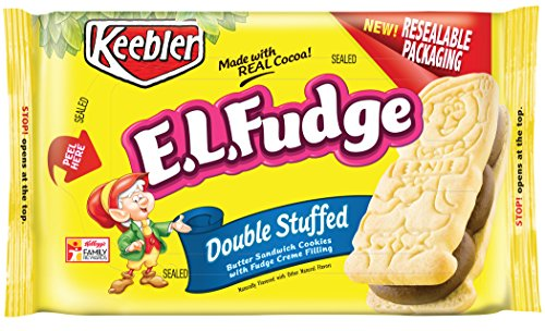 Double Fudge Cookies (Keebler E.L. Fudge Double Stuffed Sandwich Cookies 12 oz (Pack of 2))