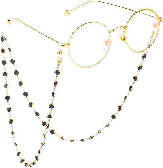Occhiali da Lettura e Occhiali da Sole Opplei Collana per Occhiali in Acciaio Inox Antiscivolo con Perline