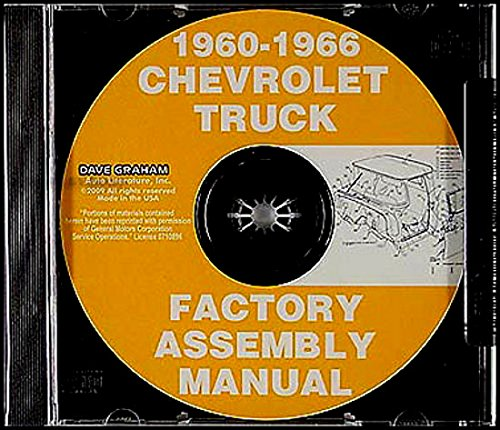 Best Restoration Manual For Chevrolet And Gmc Truck   Pickup Models C10  C20  C30 K10  K20  K30  Panel  Pickup  Suburban   Factory Assembly Instruction Manual Cd Rom Covers Years 1960 1961 1962 1963 1964 1965 1966   Chevy