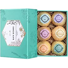 Aprilis Bath Bombs Gift Set, (6 x 4.0 oz) Organic and Natural Bath Bomb, Lush Fizzy Spa to Moisturize Dry Skin, Perfect Handmade Birthday Gift Ideas for Women Best Friends, Girlfriend and Kids