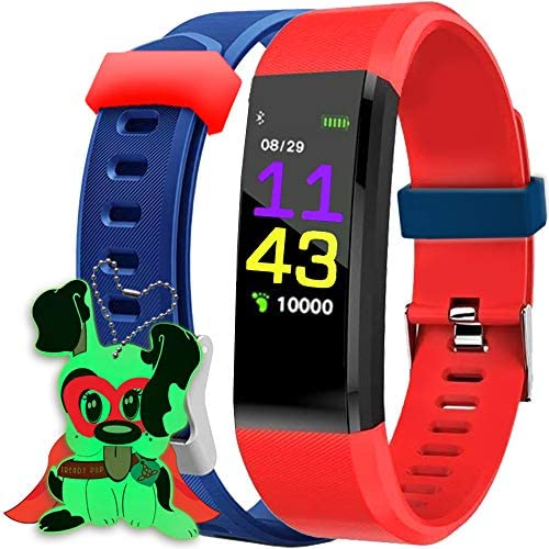 Kids Fitness Tracker for Kids Activity Tracker - Smart Watch for Android Phones iOS Digital Watch Smart Step Calorie Counter Sleep Monitor Exercise Pedometer Alarm Clock (2Bands) 1