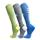 Copper Compression Socks For Men & Women(3 Pairs),15-20mmHg is Best For Running,Athletic,Medical,Pregnancy and Travel (S/M, Multicoloured 22)
