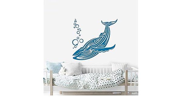 xingbuxin Tatuajes de Pared Creativo Big Blue Whale Animal ...