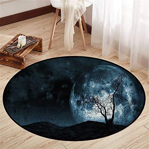 Circle Floor mat Under Bed Round Indoor Floor mat Entrance Circle Floor mat for Office Chair Wood Floor Circle Floor mat Office Round mat for Living Room Pattern 4'3