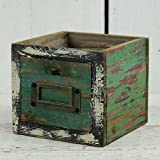 Homes on Trend Vintage Rustic Wooden Drawer Planter Jardín Trough Pot Plantas Bulbos Hierbas Cactus