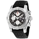 Breitling Avenger II Chronograph Gray Dial Black Rubber Mens Watch A1338111/F564BKPD3