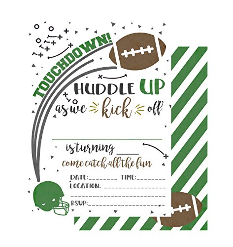 Silly Goose Gifts Football Themed Party Decoration Kit Set Bundle (Invitations)