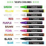 Chalkola Chalk Markers & Metallic Colors - Pack of 16 chalk pens - For Chalkboard, Whiteboard, Blackboard, Window, Glass, Bistro - 6mm Reversible bullet & chisel Tip with 8 gram erasable ink