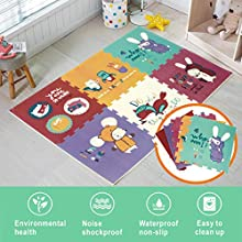 Baby Play mat Kid's Puzzle Exercise Play Mat for Floor Crawl mat for Baby with XPE Foam Thicking 0.8in …