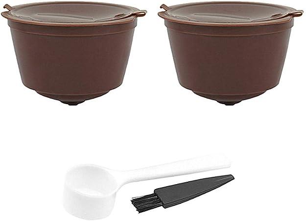 2x Molinter Cápsulas de Café Para Cafetera Dolce Con cepillo de limpieza Cuchara: Amazon.es: Hogar