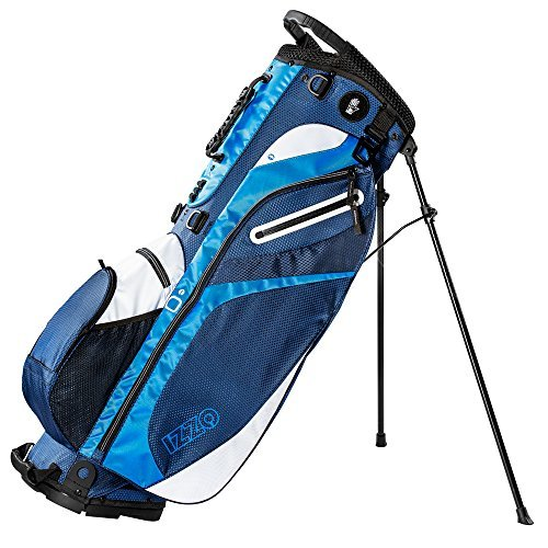 (IZZO Golf Izzo Lite Stand Golf Bag Dark Blue/Light Blue/White Walking Ultra Light Perfect for Carrying on The Golf Course, with Dual Straps for Easy to Carry Golf Bag)