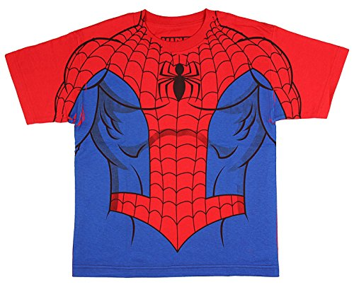 Marvel Comics The Amazing Spider-Man Youth Suit Up Sublimation Print Costume T-Shirt -