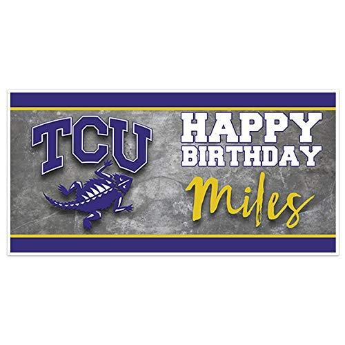 TCU College Football Birthday Banner Party Decoration -