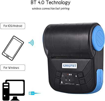 Amazon.com: GOOJPRT MTP-3 80mm BT Thermal Printer Portable ...