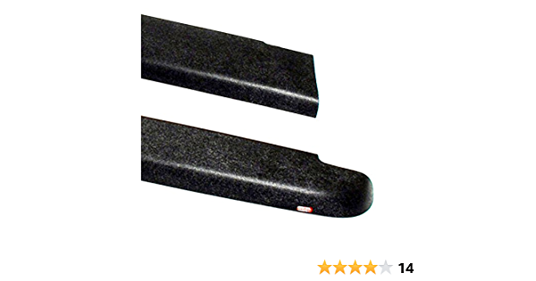 Wade 72-01111 Truck Bed Rail Caps Black Ribbed Finish with Stake Holes for 1988-1998 Chevrolet GMC 1500 2500 3500 with 6.5ft Bed Set of 2
