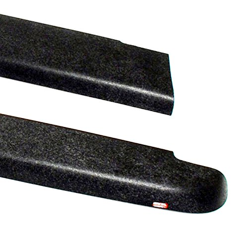 (Wade 72-40431 Truck Bed Rail Caps Black Smooth Finish without Stake Holes for 2000-2004 Dodge Dakota Quad Cab (Set of 2))