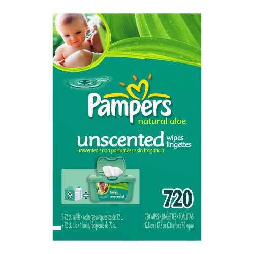 Pampers Baby Wipes Refills, Natural Aloe, Unscented, 770 Wipes