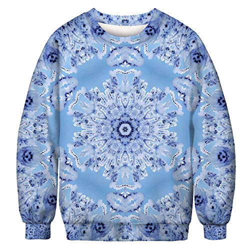 URVIP Unisex Halloween Christmas Themes 3D-Print Athletic Sweaters Fashion Hoodies Sweatshirts Snowflake BFT-013 XXL