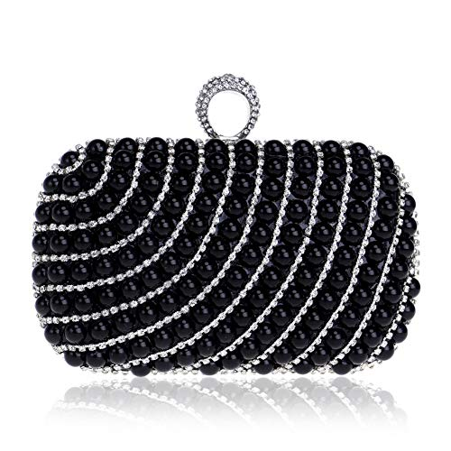 Decoration LF Shoulder Clutch Women's Makeup Flip Square Banquet Black Bag Dress Party Evening Bags By Pearl Ring Storage Diamond RLF Cover ZH5Hqx