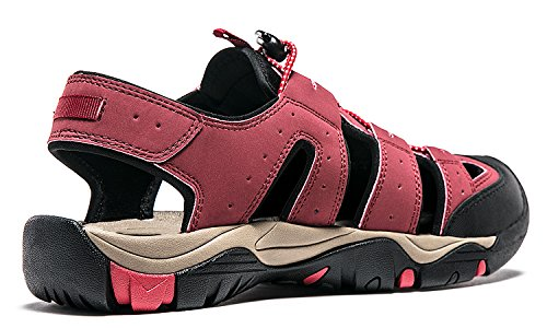 Atika Mens Sports Sandals Trail Outdoor Water Shoes 3Layer Toecap M106/M107 AT-M106-RED AOOsO3
