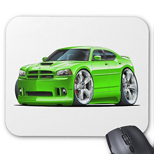 Zazzle 2006-10 Charger Srt8 Green Car Mouse Pad